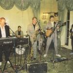 Richard Parratt, Mike d'Abo, Steve Gobey, Frank Abrams, Dik, John Banting, Cirencester Agricultural College, c1988