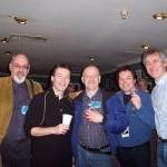 Pete Hicks, Steve Hackett, Nick Magnus, John Hackett, Dik; Shepherds Bush Empire, London 2004 (Photo: Lois Hicks)