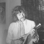Dik playing Mandolin; Studio 4, Norwich, 1971